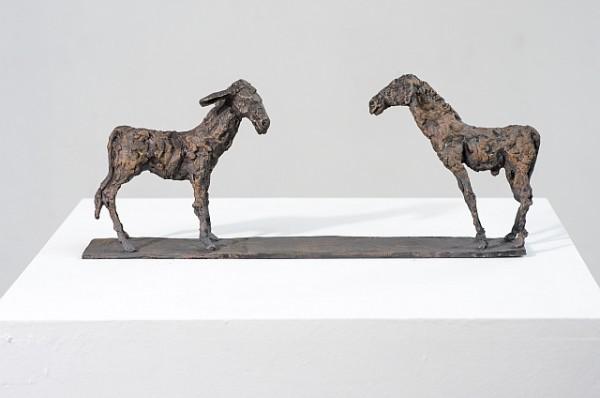 Das ungleiche Paar , Bronzeguss, 1993, 33 cm lang, Auflage 12 Exemplare