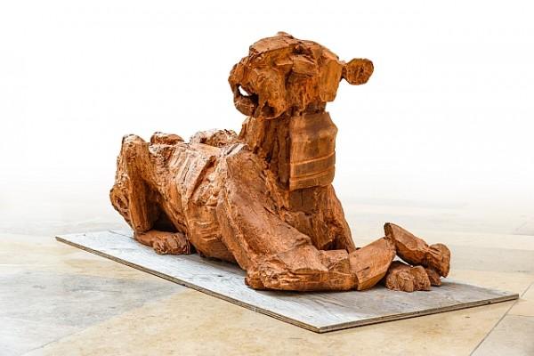 Löwe, Löwin, Stahguss, Eisenguss, Hofgartensaal, Tierplastik, Tierfigur, Kunst, Bildhauer, Tierskulptur