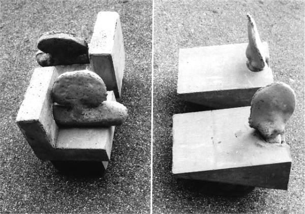 Pflanzenscharnier, Betonguss Unikat Bildhauer Kunstpreis Hofgartensaal, Minimalismus Betonkunst, Betonbildhauer